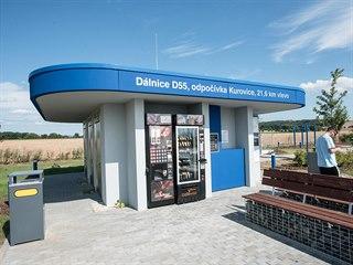 Odpočívky Kurovice na D55 otevřeli silničáři více než osm let po zprovoznění...