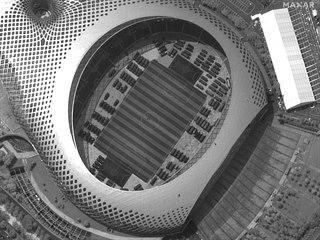 Stadion v Šen-čenu, kde je umístěna jednotka čínské armády údajně připravená k...