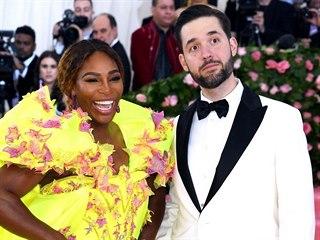 Serena Williamsová s manželem Alexisem Ohanianem (New York, Costume Institute...
