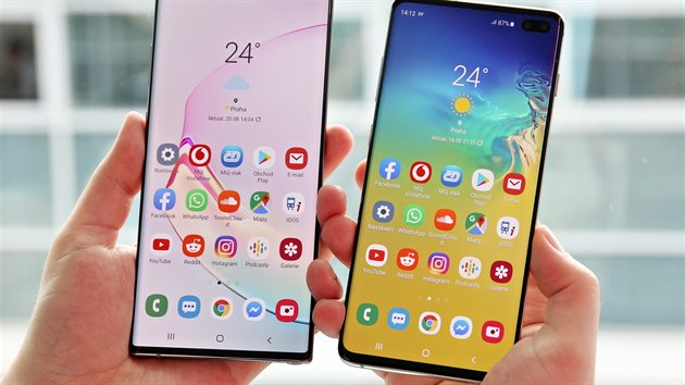 Samsung Galaxy S10+ a Samsung Galaxy Note 10+