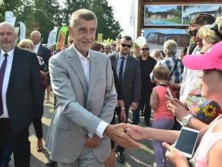 Ministr zemědělství Miroslav Toman a premiér Andrej Babiš (zleva) při zahájení...