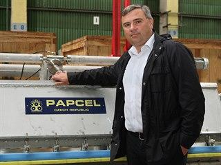Generální ředitel litovelského Papcelu David Dostál. Firma vyrábějící stroje a...