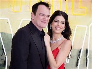 Quentin Tarantino s manželkou Daniellou Pickovou (Londýn, 30. července 2019)