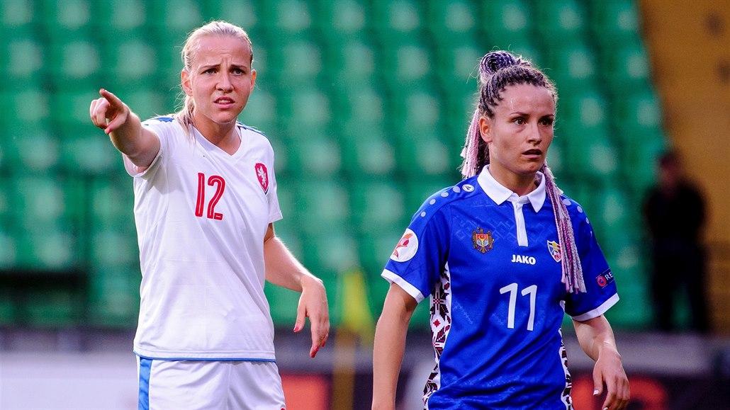 Fotbalistky zakončily kvalifikaci ME drtivou výhrou nad Moldavskem