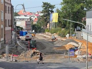 Opravy Pivovarské ulice v Chebu.