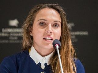Anna Kellnerová při tiskové konferenci k podzimní galashow Global Champions...