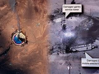 Trump ukázal, že americké špionážní satelity (vpravo) mají mnohem lepší...