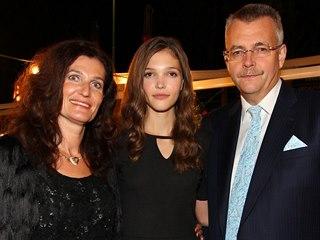 Jaroslav Tvrdík s manželkou a dcerou Janou Tvrdíkovou na 25.ročníku finále...