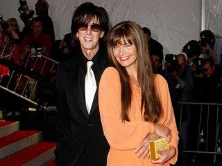 Hudebník Ric Ocasek s manželkou Pavlínou Pořízkovou na snímku z roku 2009.