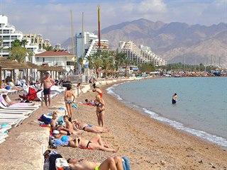 Pláž Pearl Beach v Eilatu
