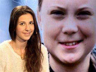 Klimatická aktivistka Lucie Smolková v diskusním pořadu Rozstřel. (19. září...