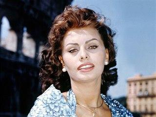 Sophia Lorenová ve snímku Boy on a Dolphin (1957)