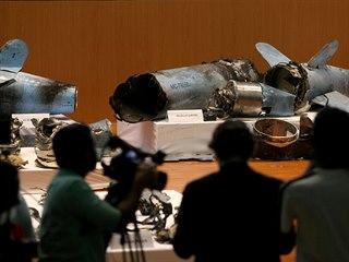 Úlomky raket použitých proti Saúdské Arábii (18. 9. 2019)