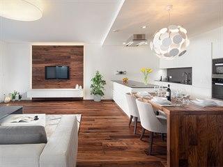 Dřevěné podlahové lamely lze použít na podlahu, jako obklad stěny, ale i na...