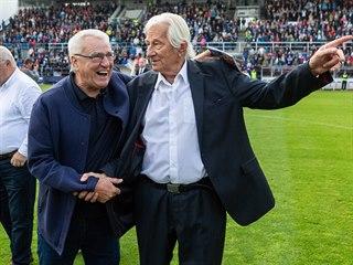 Olomoucké trenérské legendy Karel Brückner (vpravo) a Petr Uličný.