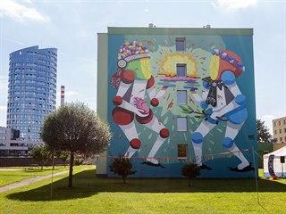 Jedna ze dvou hlavních sedmnáctimetrových muralových maleb, které vznikly v...