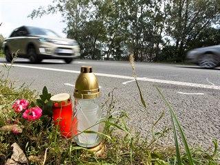 Místo tragické nehody v Lipnické ulici na okraji Přerova, kde řidič...