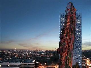 Nejvyšší budovu v Česku s názvem Top Tower (na vizualizaci) chce postavit...