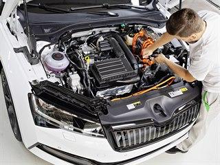 Škoda Auto spustila v Kvasinách sériovou výrobu modelu Superb iV s plug-in...