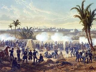 S bombardováním mexického Veracruz Francouzům ochotně pomohli Američané.