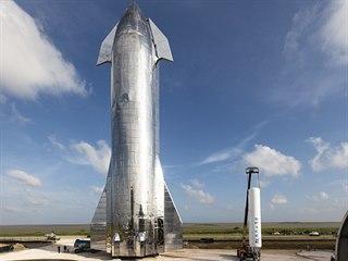 Starship Mk1 a první stupeň Falconu 1