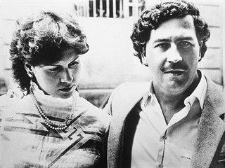 Victoria a Pablo Escobarovi na snímku z roku 1983