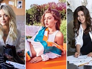 Známé tváře jako návrhářky - Rita Ora (zleva), Bella Hadidová nebo Dana...