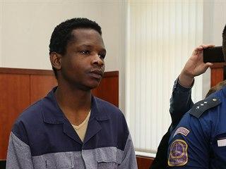 Obžalovaný Abdallah Ibrahim Diallo před okresním soudem v Litoměřicích (17.10....