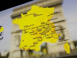 Mapa trasy Tour de France 2020