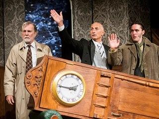 Záběr z představení Hra, která se zvrtla v pražském Divadle Bez zábradlí