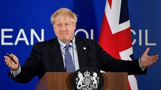 Britský premiér Boris Johnson na summitu v Bruselu.(17.10.2019)