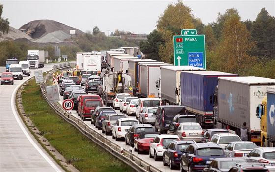 Typická situace na proklínané dálnici D1