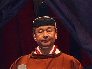 Nový japonský císař Naruhito při korunovaci v císařském paláci v Tokiu. (22....