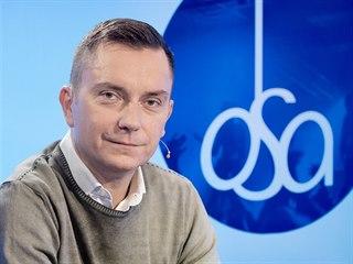 Mluvčí Ochranného svazu autorského Roman Strejček v diskusním pořadu Rozstřel....