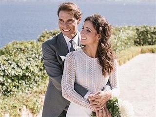 Rafael Nadal a María Francisca Perellóová (21. října 2019)