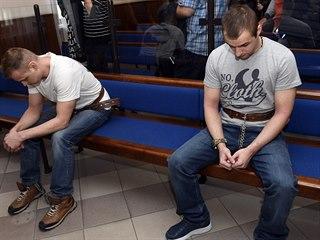 Odsouzený David Šindler (vlevo) má jít za vraždu čerpadlářky u Nelahozevsi do...