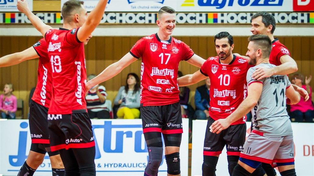 V semifinále poháru jsou i volejbalisté Budějovic, Liberce a Kladna