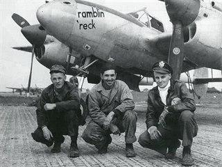 Lockheed P-38 Lightning z 96. stíhací perutě 82. stíhací skupiny USAAF. Tento...