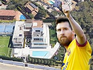 Dům Lionela Messiho ve španělském městečku Castelldefels