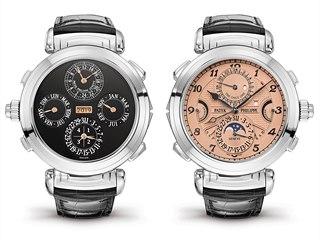 Luxusní náramkové hodinky Patek Philippe Grandmaster Chime se dvěma číselníky...