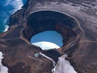 Kráter islandské sopky Askja