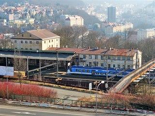 Původní budova Horního nádraží v Karlových Varech.