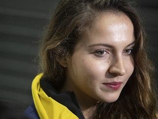 Anna Kellnerová při prohlídce O2 areny před Global Champions Prague Playoffs...