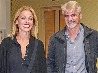 Lucie Zedníčková a její nový partner Miroslav Ollé (Praha, 30. září 2019)