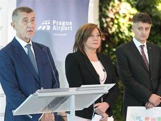 Premiér Andrej Babiš, ministryně financí Alena Schillerová, šéf SŽDC Jiří...