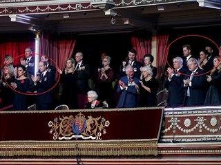 Královská rodina v Royal Albert Hall na slavnosti připomínající oběti první...
