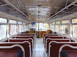 Autobus Tatra 500 HB - 138, celkový pohled do interiéru