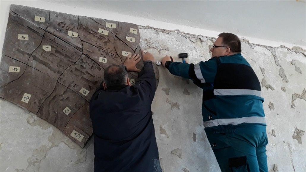 Cennou mozaiku zachránili těsně před demolicí, přijalo ji muzeum