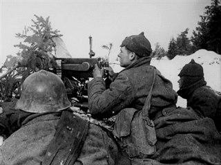 Zimní válka 1939 - 1940, sovětští kulometčíci.