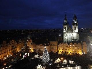 Rozsvícení vánočního stromku na Staroměstském náměstí v Praze si nenechaly ujít...